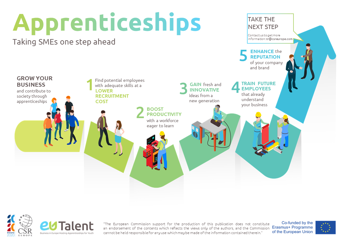 Infographic how quality apprenticeships benefit your company
